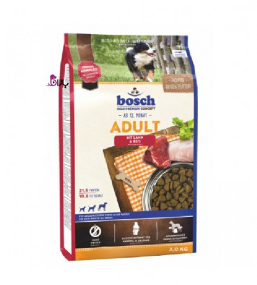 غذای سگ بوش حاوی گوشت بره و برنج (۳ کیلوگرم)