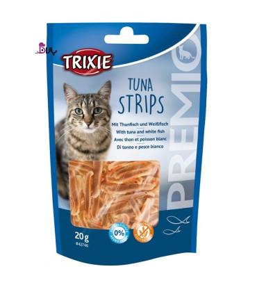 تشویقی گربه تریکسی حاوی ماهی تن