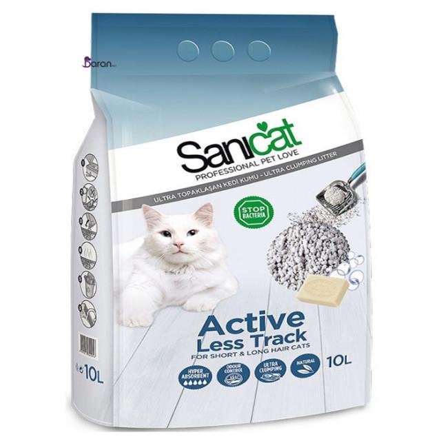 خاک توالت گربه سانی کت اکتیو مخصوص گربه های مو کوتاه و مو بلند
