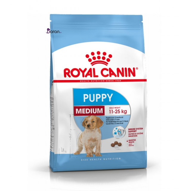غذای خشک رویال کنین مخصوص توله سگ نژاد متوسط 2 تا 12 ماه
