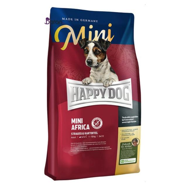 غذای سگ هپی داگ حاوی گوشت شترمرغ افریقایی (1 کیلوگرم)