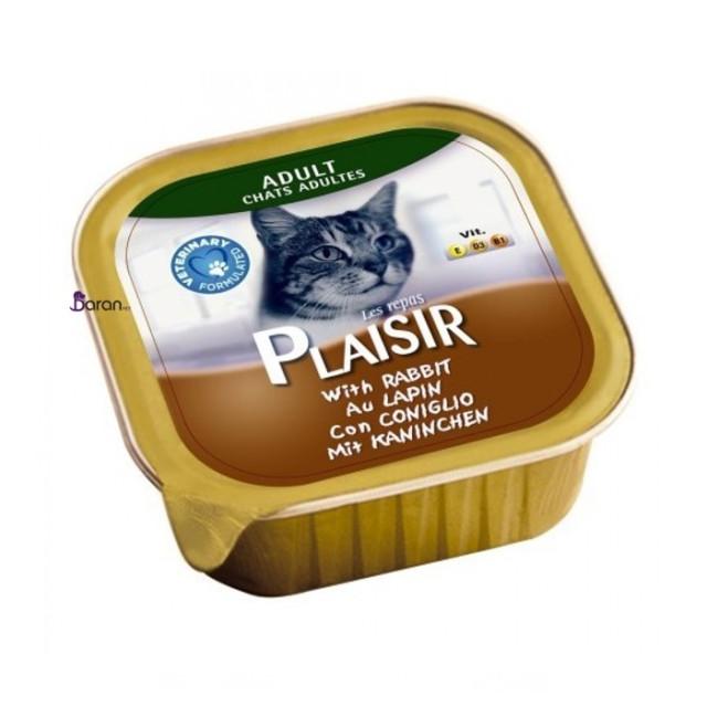 کنسرو گربه پلایزر حاوی گوشت خرگوش (100 گرم)