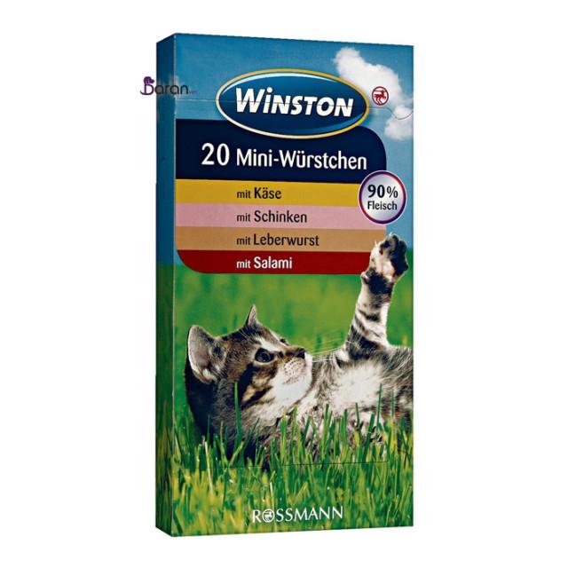 تشویقی گربه وینستون با 4 طعم (20 عددی)