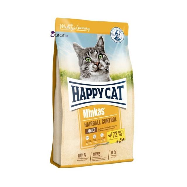 غذای گربه بالغ هپی کت مینکاس مخصوص دفع هربال گلوله مو (10 کیلوگرم)