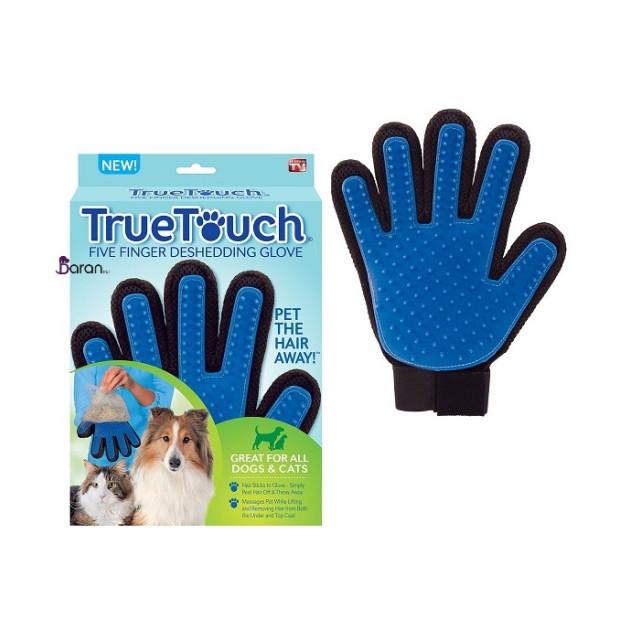 دستکش ماساژ True Touch مناسب سگ و گربه