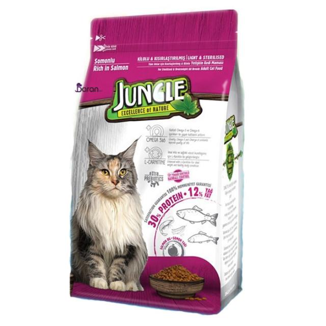 غذای گربه عقیم جانگل حاوی ماهی سالمون (1/5 کیلوگرم)