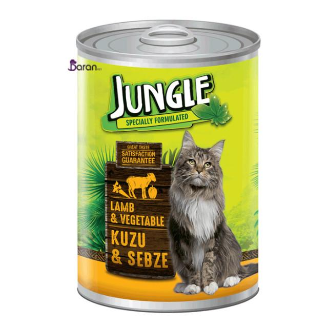 کنسرو گربه جانگل حاوی گوشت و سبزیجات (415 گرم)