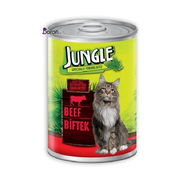 کنسرو گربه جانگل حاوی گوشت (415 گرم)