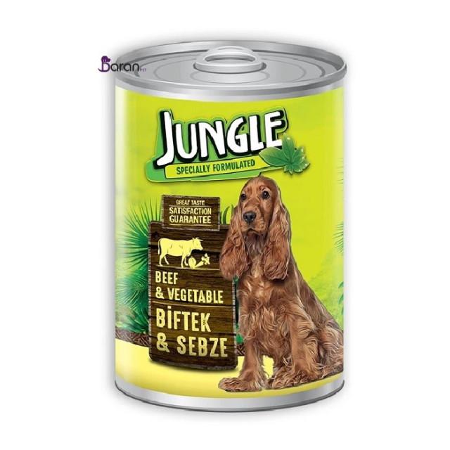 کنسرو سگ جانگل حاوی گوشت گوساله و سبزیجات (415 گرم)