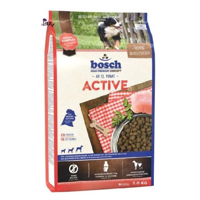 غذای سگ پر تحرک و اکتیو بوش (3 کیلوگرم)