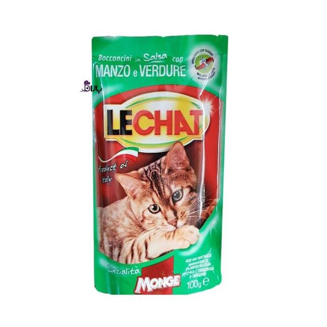 پوچ گربه گوشت گوساله لچت (100 گرم)