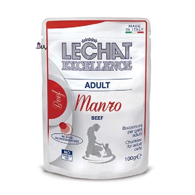 پوچ گربه گوشت لچت اکسلنت (100 گرم)