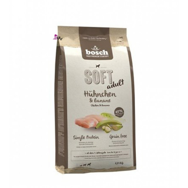 غذای سگ بوش حاوی مرغ و موز (1 کیلوگرم)