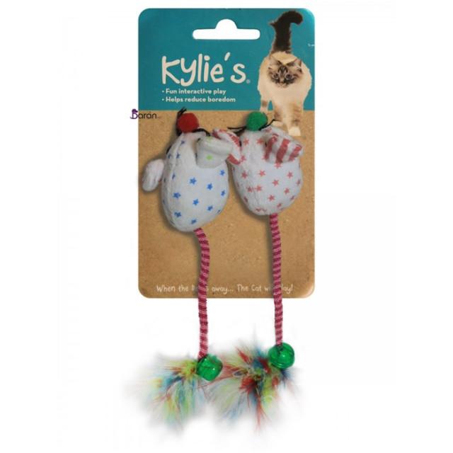 اسباب بازی گربه موش دم زنگولهای 2تایی کایلی