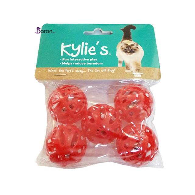 اسباب بازی گربه توپ 5 عددی زنگوله دار  کایلی