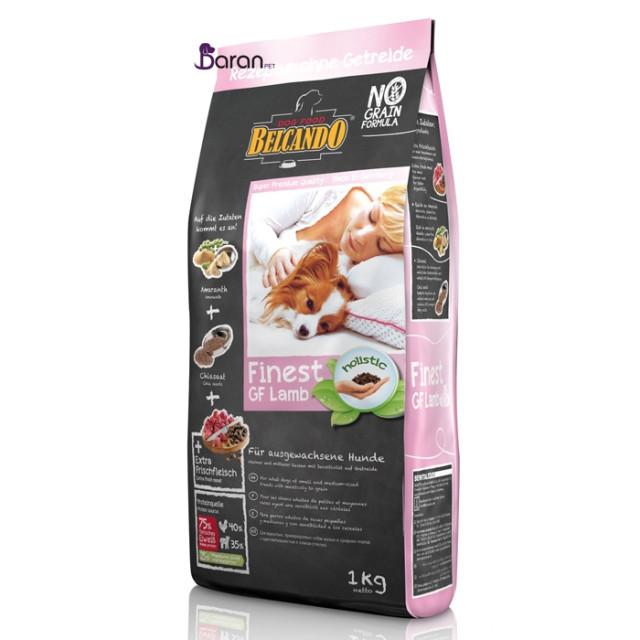 غذای خشک سگ بلکاندو بدون غلات با گوشت بره :: Belcando Finest Grain Free Lamb