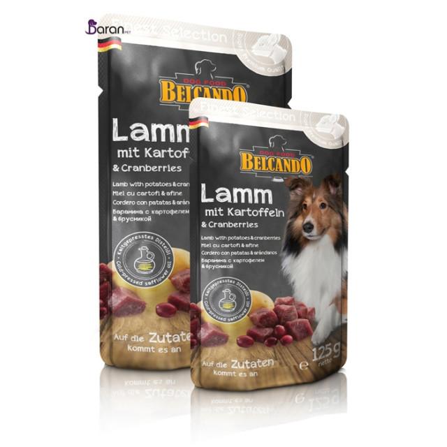 پوچ سگ بلکاندو حاوی گوشت بره با سیب زمینی :: Belcando Lamb with Potatoes