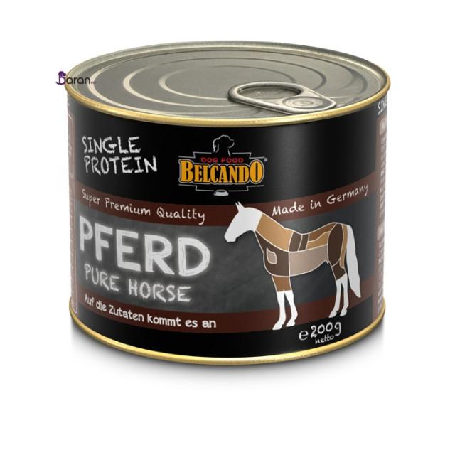 کنسرو سگ بلکاندو حاوی گوشت خالص اسب :: Belcando Single Protein Horse
