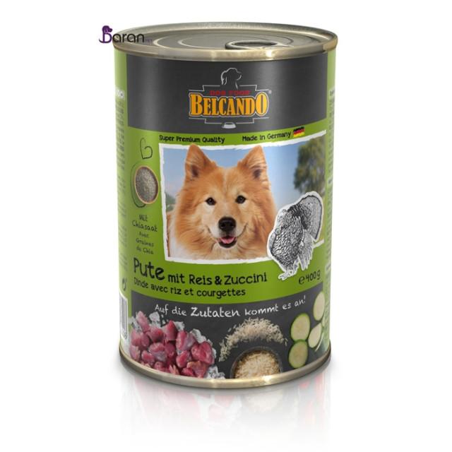 کنسرو سگ بلکاندو حاوی گوشت بوقلمون با برنج :: Belcando Turkey with Rice