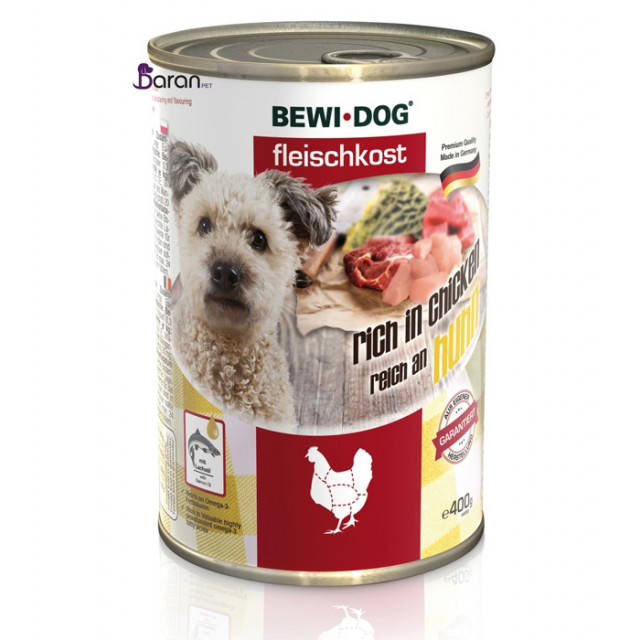 کنسرو سگ بوی داگ حاوی گوشت مرغ (400 گرم)
