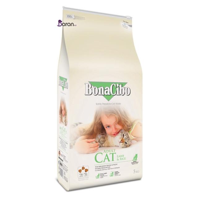غذای گربه بوناسیبو حاوی بره و برنج (5 کیلوگرم)