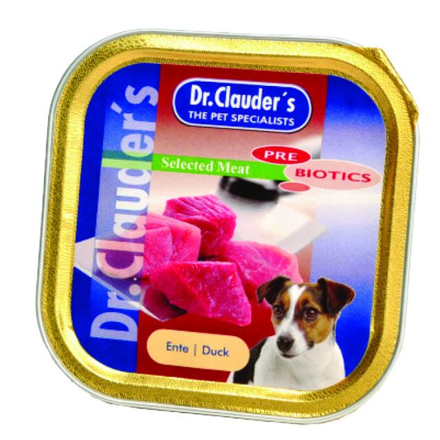 خوراک کاسهای سگ دکتر کلادرز حاوی گوشت اردک :: Dr. Clauder's Duck