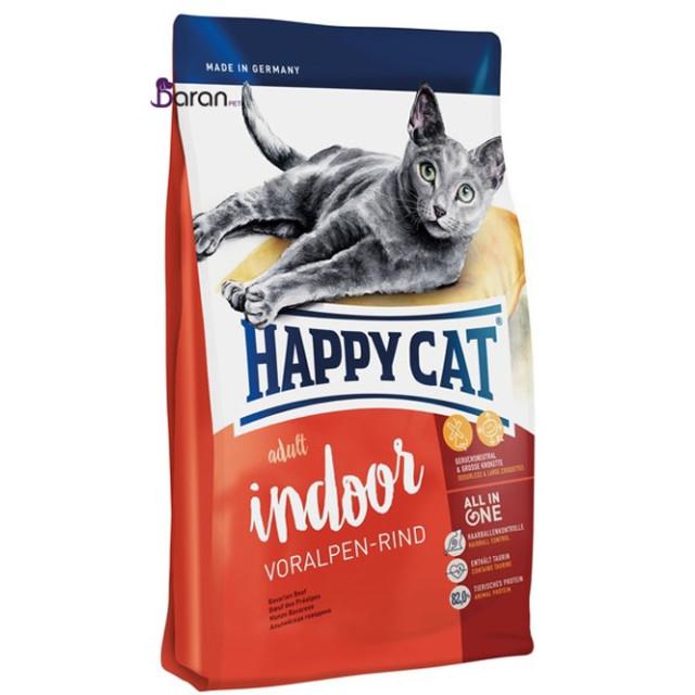 غذای گربه هپی کت ایندور حاوی گوشت گوساله (10 کیلوگرم)