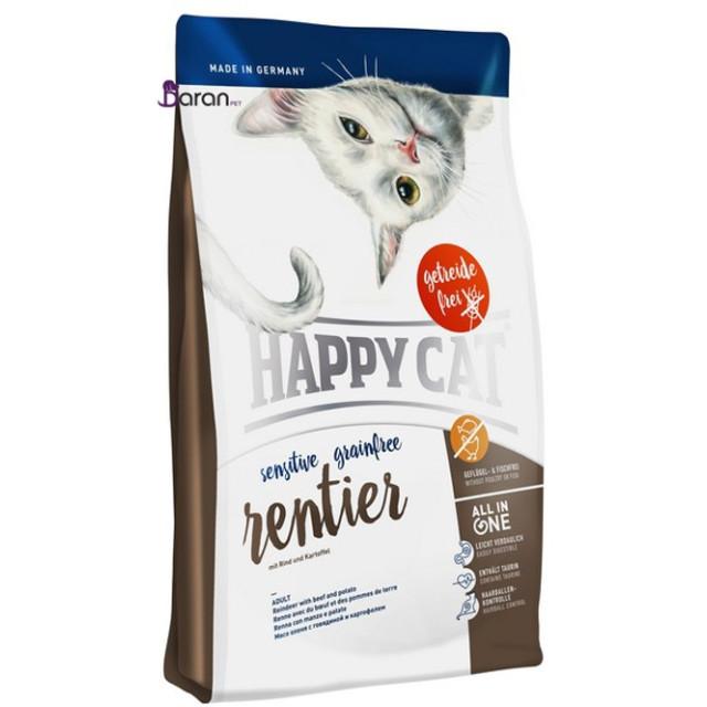 غذای گربه بدغذا هپی کت حاوی گوشت گوزن (1/5 کیلوگرم)
