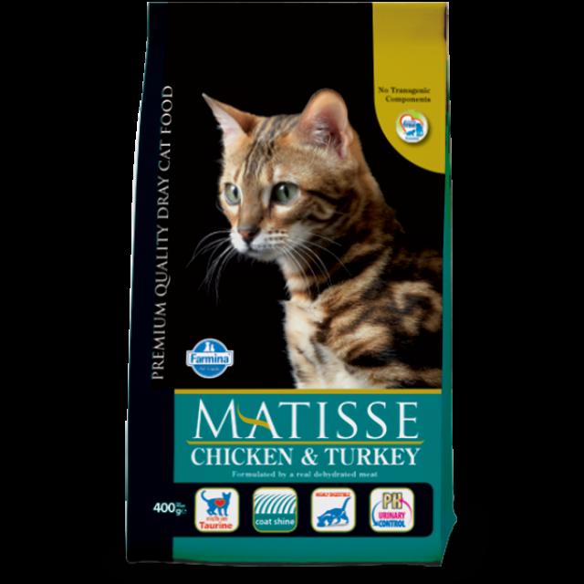 غذای خشک گربه ماتیس حاوی مرغ و بوقلمون :: MATISSE Chiken Turkey