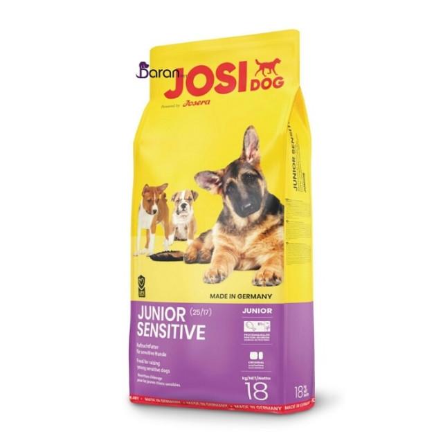 غذای توله سگ حساس و بدغذا سنسی جونیور جوسرا (18 کیلوگرم)