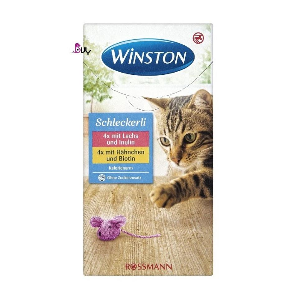 بستنی گربه وینستون مرغ بیوتین و ماهی اینولین (8 عددی)