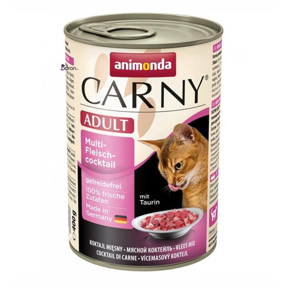 کنسرو گربه کارنی حاوی گوشت شکار ، گوساله و مرغ (400 گرم)