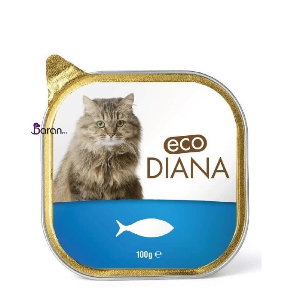 کنسرو گربه دیانا حاوی گوشت ماهی سالمون (100 گرم)