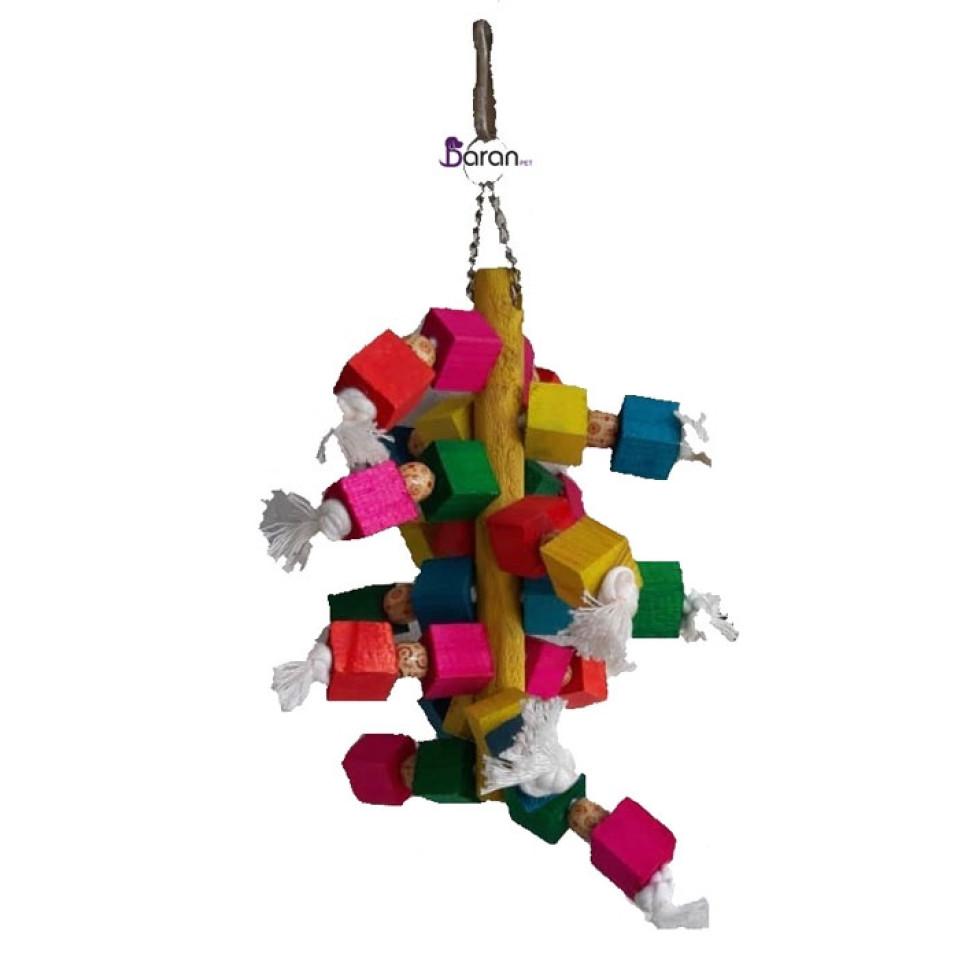 اسباب بازی آویز چوب رنگی مخصوص پرندگان