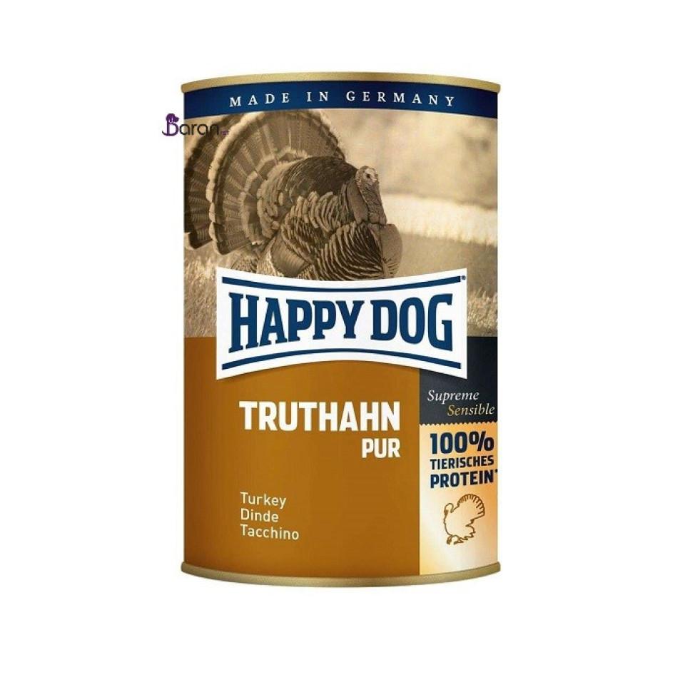 کنسرو سگ هپی داگ حاوی بوقلمون (400 گرم)