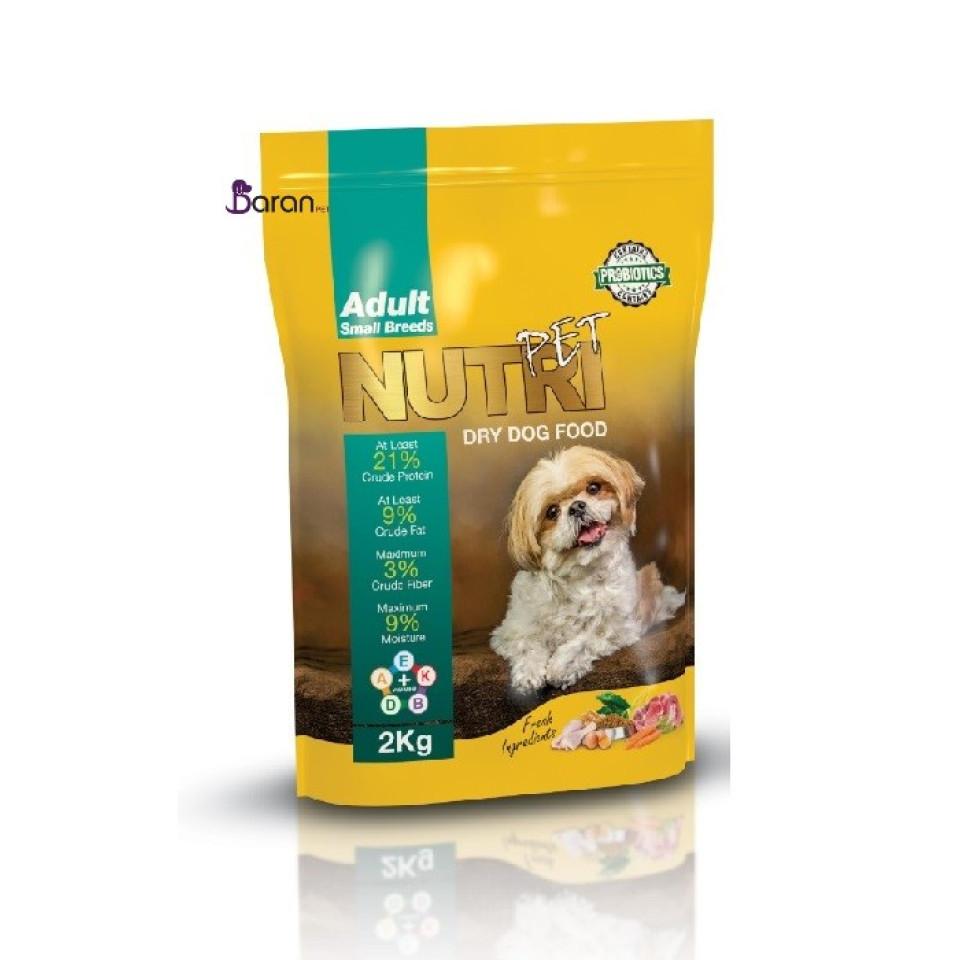 غذای سگ نژاد کوچک نوتری پت با پروتئین 21٪ (2 کیلوگرم)