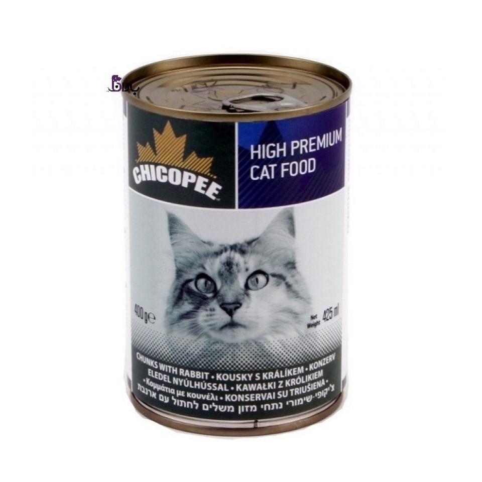 کنسرو گربه چیکوپی حاوی گوشت خرگوش (400 گرم)