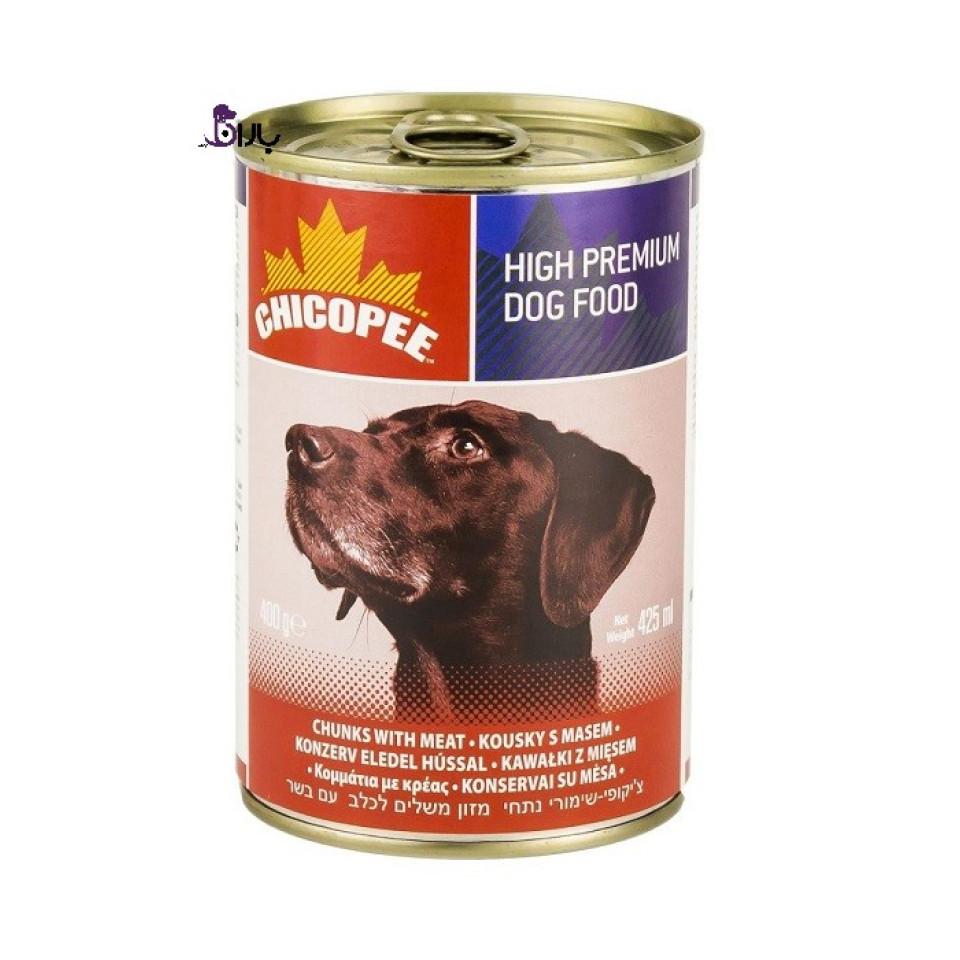 کنسرو سگ چیکوپی حاوی گوشت گاو (425 گرم)
