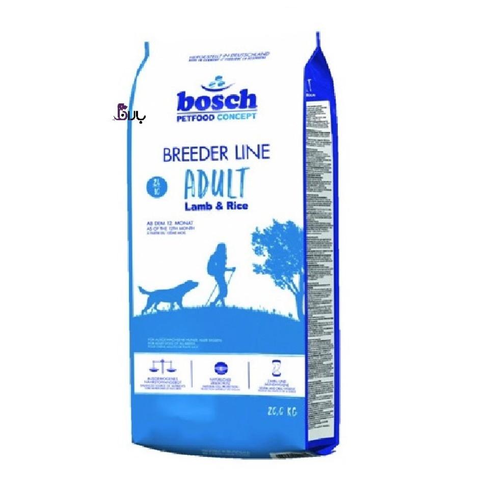 غذای سگ بوش حاوی گوشت بره و برنج (20 کیلوگرم)