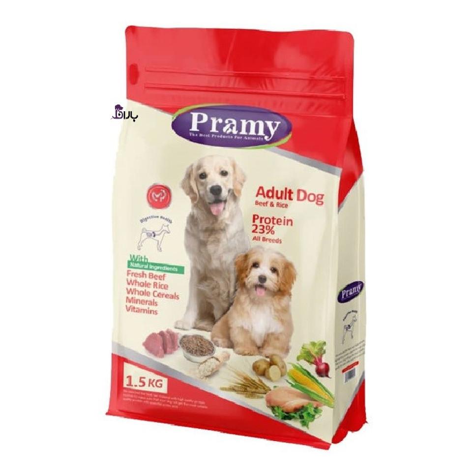 غذای سگ بالغ پرامی با طعم گوشت گاو (1/5 کیلوگرم)