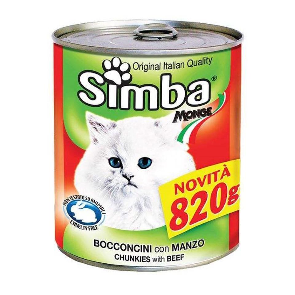 کنسرو گربه گوشت گاو سیمبا (415 گرم)