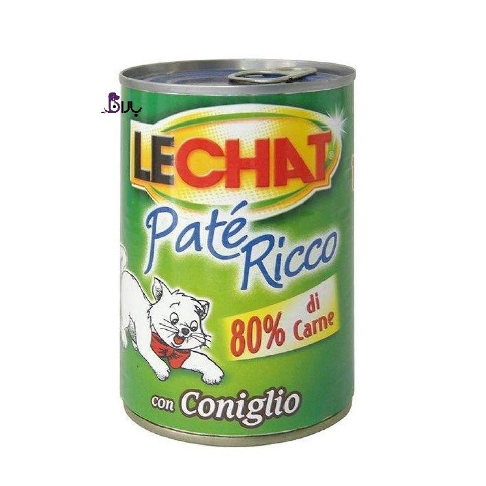 کنسرو گربه گوشت خرگوش لچت (400 گرم)