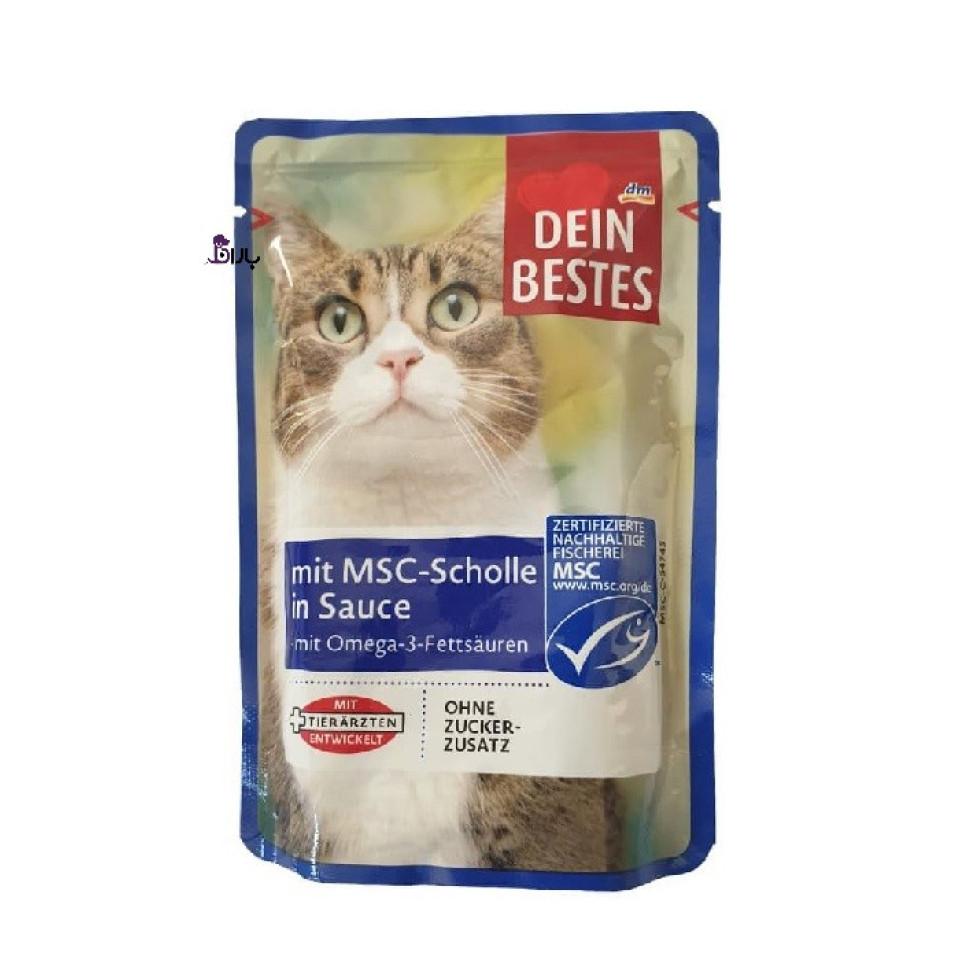پوچ گربه داین بستز حاوی ماهی حلوا (100 گرم)