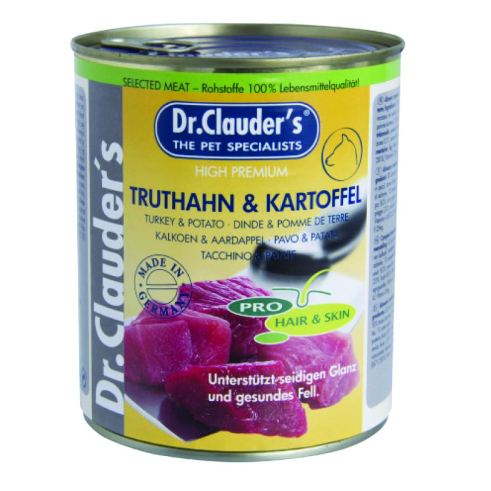 کنسرو سگ دکتر کلادرز حاوی گوشت بوقلمون و سیب زمینی :: Dr. Clauder's Turkey & Potato