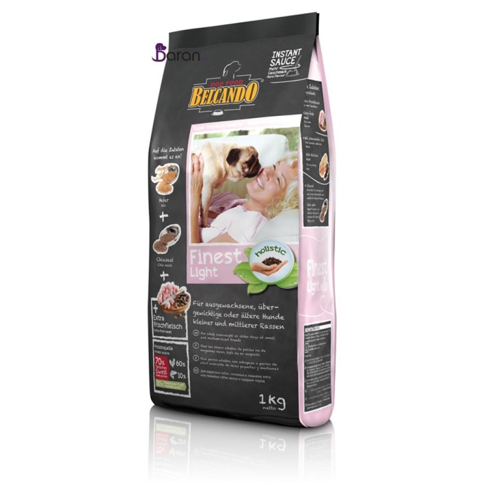 غذای رژیمی سگ بالغ نژاد کوچک و متوسط سگ بلکاندو :: Belcando Finest Light