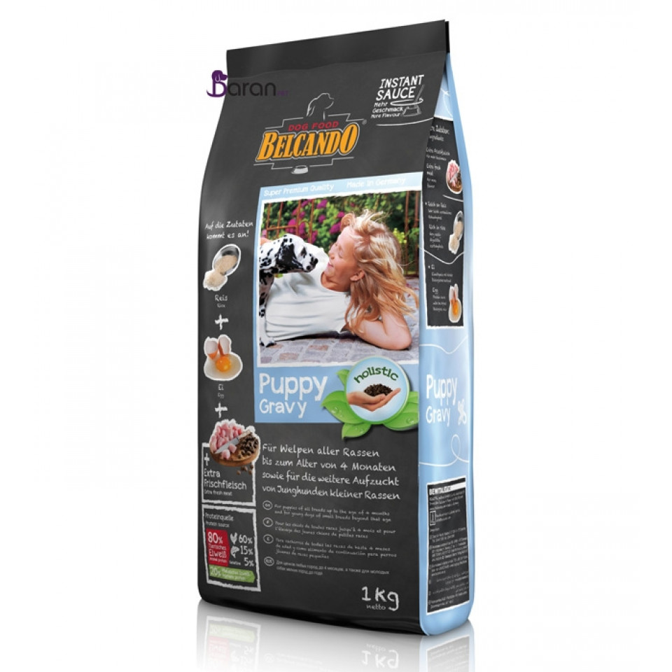 غذای توله سگ بلکاندو حاوی مرغ :: Belcando Puppy Gravy
