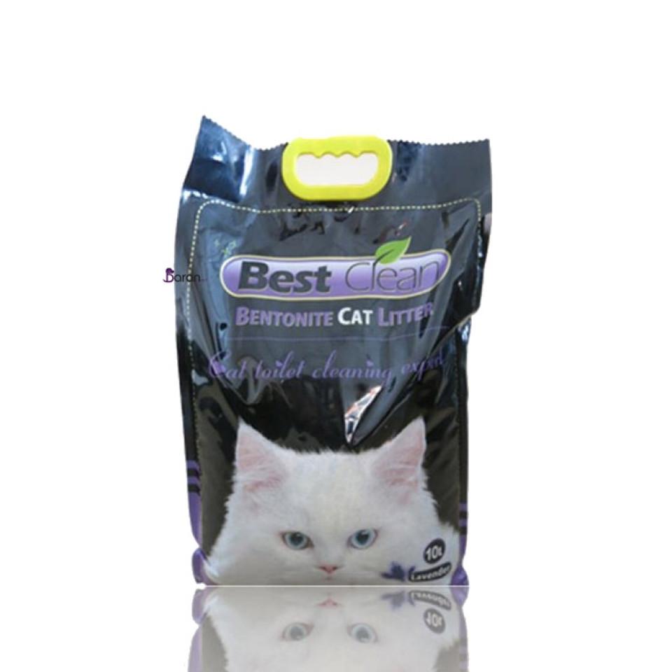 خاک بستر گربه بست کلین با رایحه لوندر (10 لیتر)