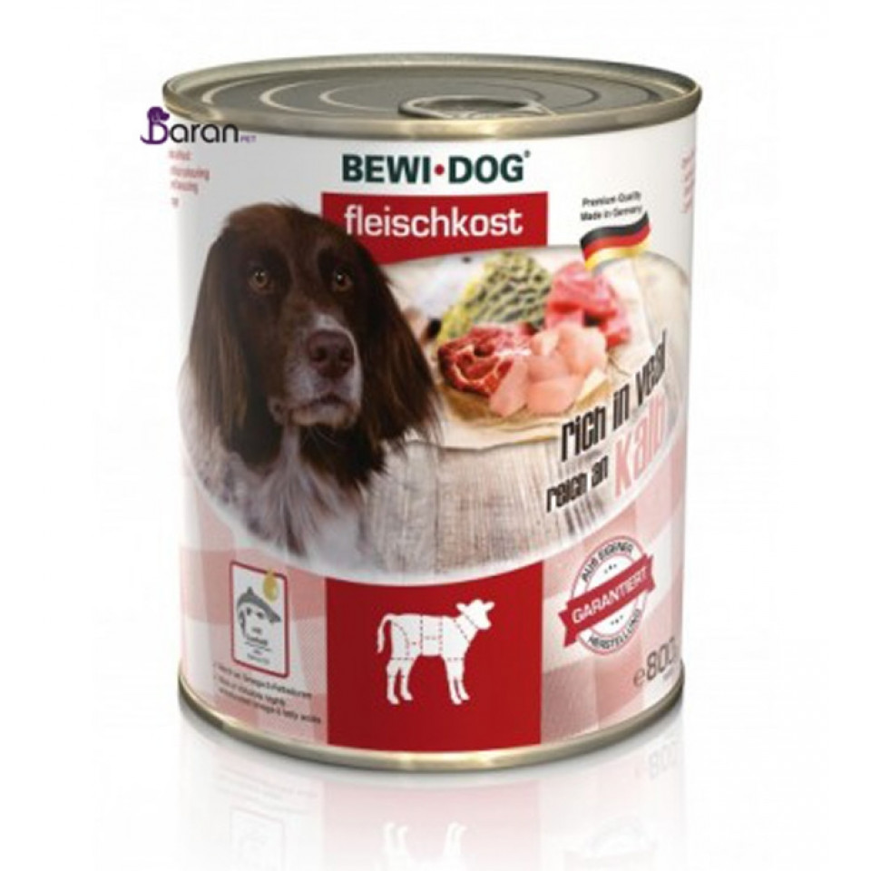 کنسرو سگ بوی داگ حاوی گوشت گوساله (800 گرم)