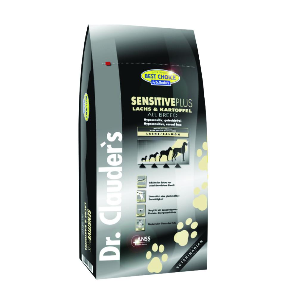 غذای خشک سگ دکتر کلادرز مخصوص سگ بالغ بد اشتها یا حساس :: Dr. Clauder's Best Choice Sensitive Plus