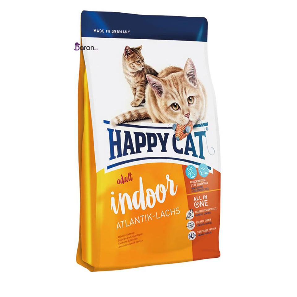 غذای خشک گربه هپی کت ایندور آتلانتیک ماهی سالمون